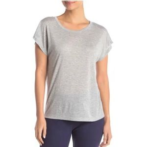 Free Press Heather Grey Short Sleeve Pajama Top